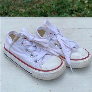 Toddler White Converse Size 6
